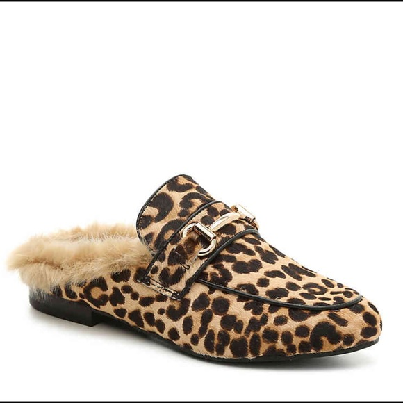 55f6d5fd132 🔥NWT STEVE MADDEN Jill Leopard Print Fur Mules🔥